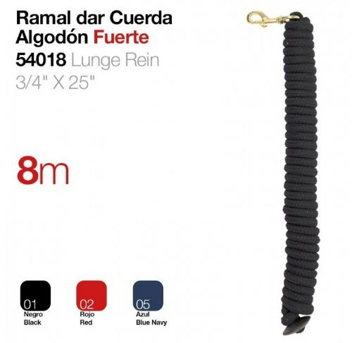 8m cotton show rope
